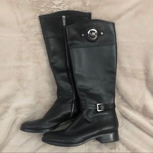 Tall Black Leather Michael Kors boots